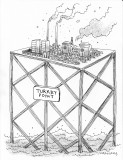 SACE-Turkey Point Nuclear Power Plant on Stilts Cartoon