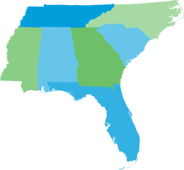 Map of the Southeast, Southern Alliance for Clean Energy